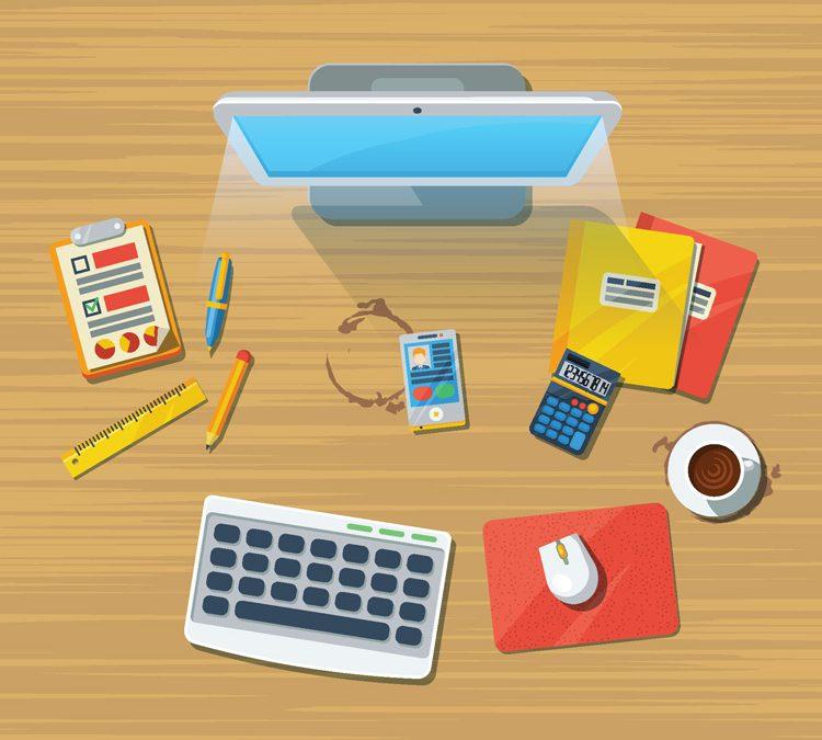 desktop items of a social media deisigner